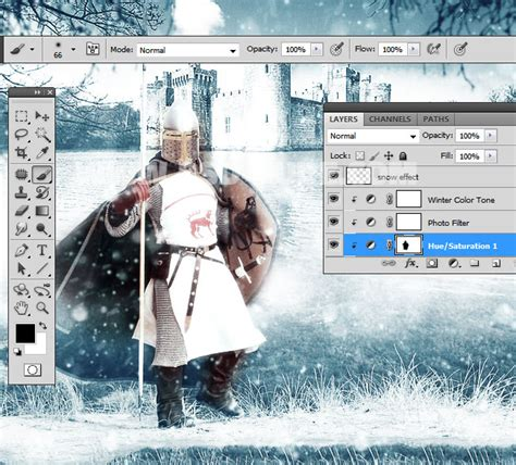 tutorial photoshop winter winter is coming photoshop manipulation tutorial