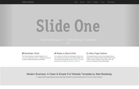 Start Bootstrap All Free Bootstrap Themes And Templates Modern Bootstrap Templates