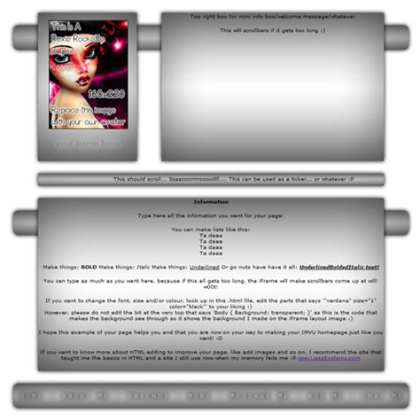 html layout iframe roxierockette s free imvu div iframe layouts