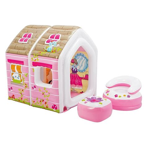 Best Quality Intex Magical Castle Toyz 48635 intex princess play house set 49 quot x 43 quot x 48 quot with 1 arm chair 1 ottoman