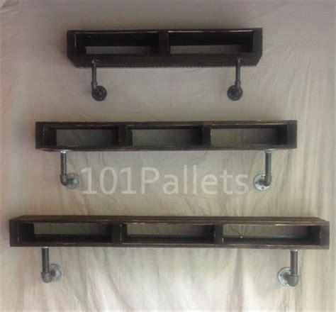 Plumbing Pipe Shelf by Diy Wooden Pallet Pipe Shelf Pallet Furniture Plans