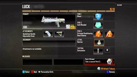 best classes best shotgun class in black ops 2 custom class set up