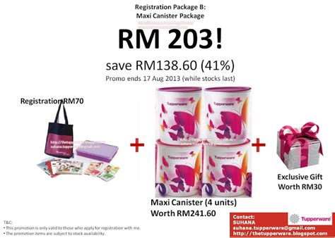 Maxi Canister 5 5ltr Tupperware tupperware brands malaysia catalogue collection