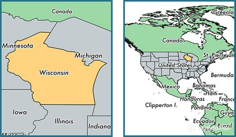 united states map wisconsin where is wisconsin state where is wisconsin located in