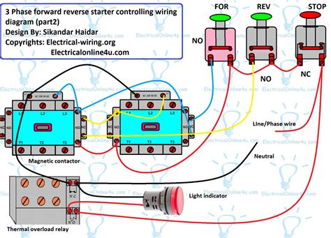 single phase motor wiring diagram forward wiring