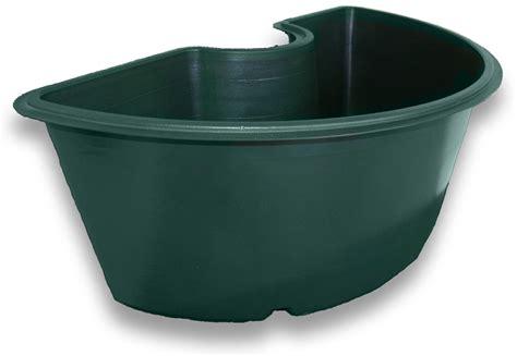 half flower pot around mailbox semi circular flower pot