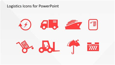 logistics powerpoint template logistics icons for powerpoint slidemodel