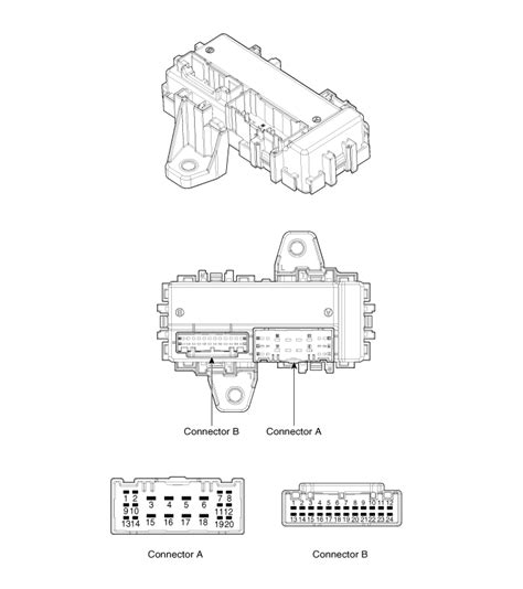 integrated circuit relay kia sorento icm integrated circuit module relay box component fuses and relays