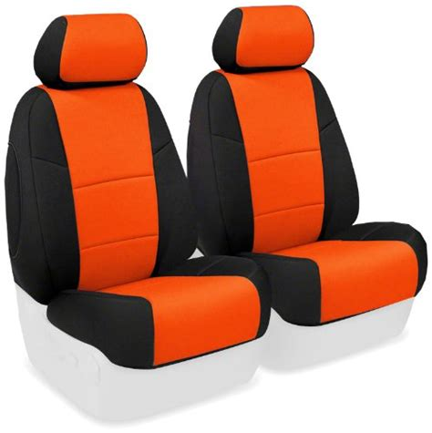 Orange Jeep Seat Covers Coverking Custom Fit Front 50 50 Seat Cover For