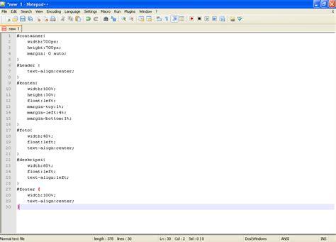 membuat halaman web sederhana dengan notepad mempercantik halaman web menggunakan css tutorial coding