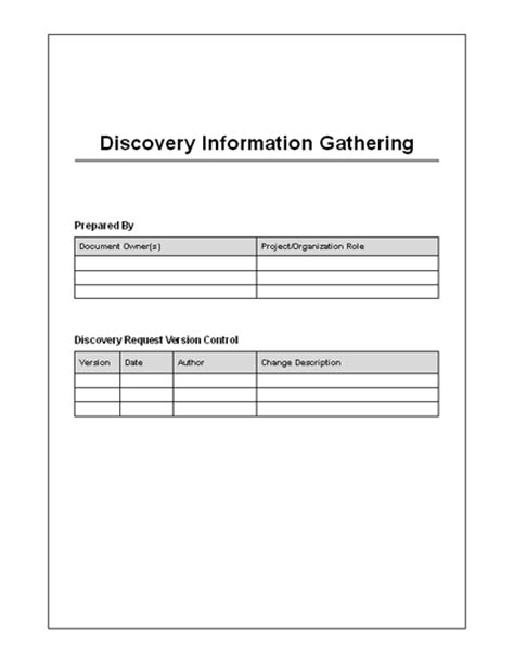 Download Discovery Information Form Key Interrogatories Discovery Template