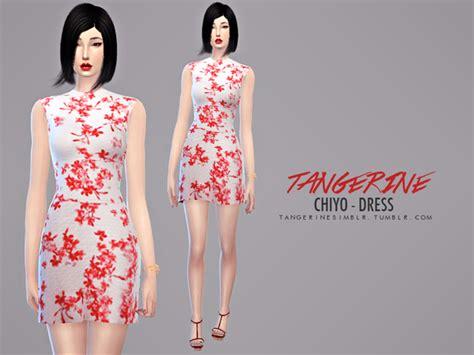 Dress Chiyo tangerinesimblr s chiyo dress