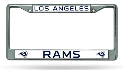 los angeles rams colors los angeles rams new colors chrome frame metal license