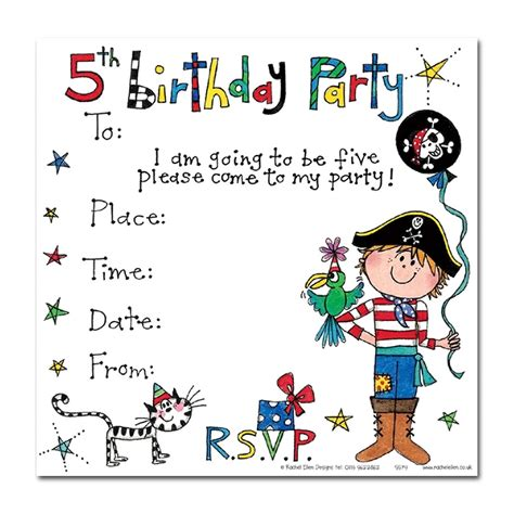 5th Birthday Invitation Card Template by 5th Birthday Pirate Invitation Cards Pirate