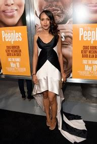 kerry washington at 'peeples' premiere in los angeles on