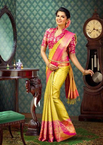 Wedding Wear, Bridal Wear Mustard Color And Pink Bridal