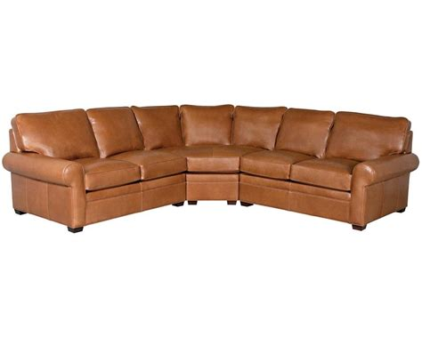 classic leather sectional classic leather library sectional 11517 leather