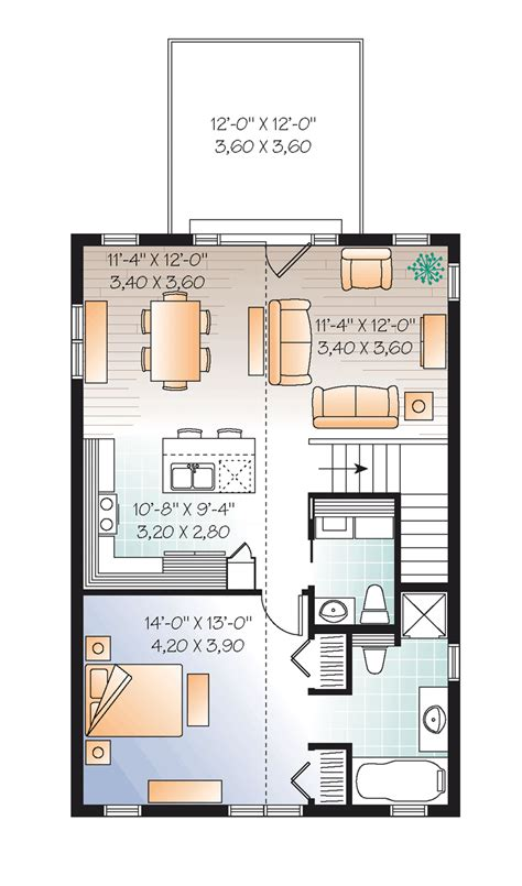 garage apt floor plans second floor plan of garage plan 76227 great house above the garage plan for a small lot