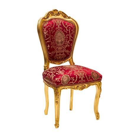 sedie stile barocco sedia stile barocco in legno colore oro e tessuto