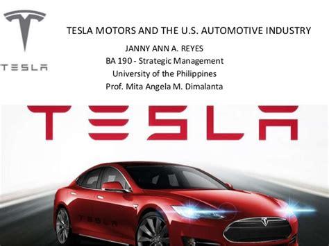 Tesla Motors Pdf Tesla Motors The Us Car Industry