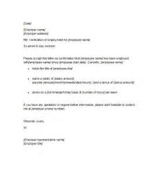 Employment Letter 40 Proof Of Employment Letters Verification Forms Sles