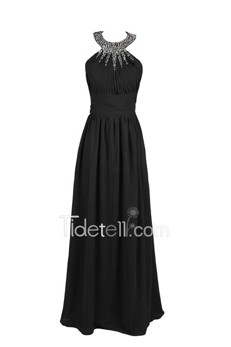 Delicate A-line Halter Chiffon Long Prom Dress With Beading