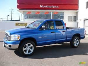 Blue Dodge Ram 1500 2007 Electric Blue Pearl Dodge Ram 1500 Big Horn Edition