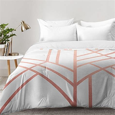 rose gold bedding deny designs elisabeth fredriksson art deco comforter in