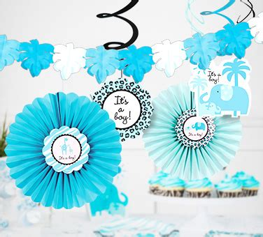 Blue Safari Baby Shower by Baby Shower Decorations Decoration Ideas Baby Shower