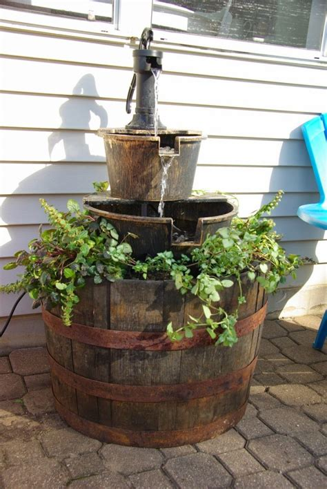 budget friendly wine barrel fountains perfect