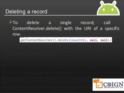 android content provider android content providers