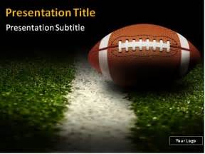football powerpoint templates american football on the field powerpoint