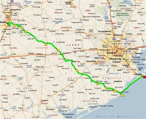 houston galveston map to galveston avoiding houston