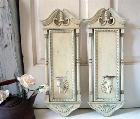antique white vintage candle holder from willowsendcottage on
