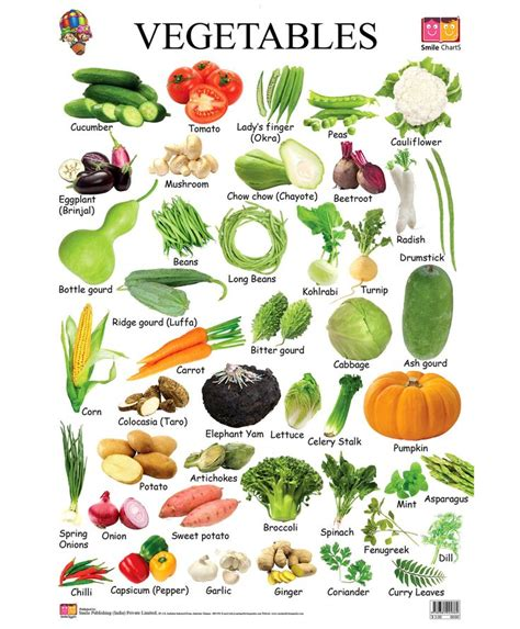 6 vegetables name in vegetables chart search food