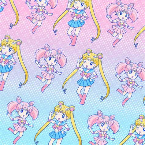 cute pattern pixiv crunchyroll happy birthday to sailor moon