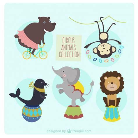 imagenes vectoriales animales gratis colecci 243 n de animales de circo descargar vectores gratis