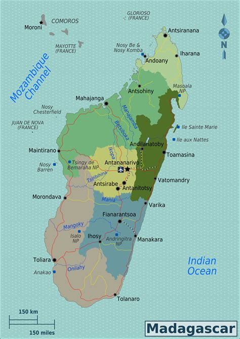 madagascar map map of madagascar overview map regions worldofmaps net maps and travel information