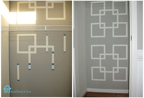 wall paint design ideas with tape remodelando la casa the monster inside the closet