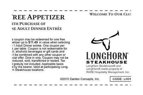 longhorn steakhouse coupons june 2018