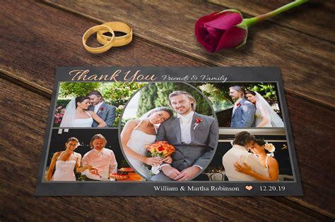 50 personalised wedding thankyou thank you photo cards