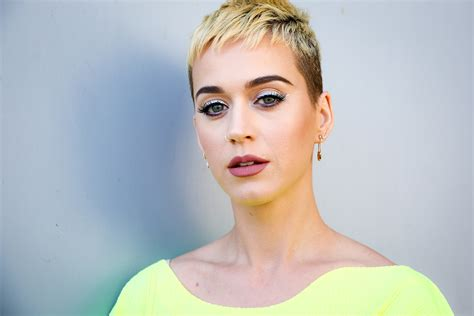 Katy Perry's Platinum Blond Pixie Cut Wasn't Entirely by