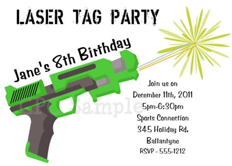 free printable birthday invitations laser tag free printable laser tag birthday party invitations