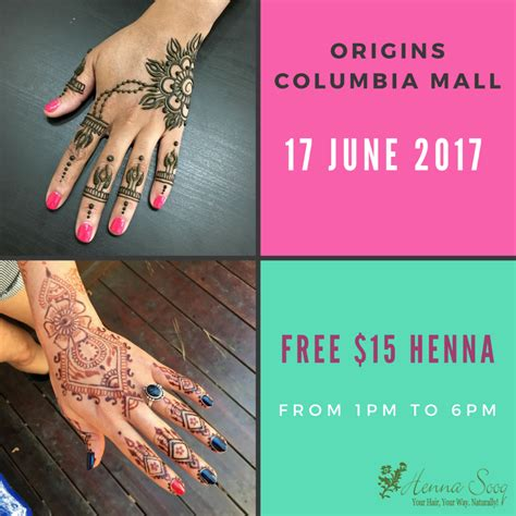 complimentary henna at origins columbia mall henna spot