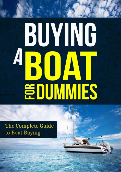 boat terms for dummies buying a boat for dummies