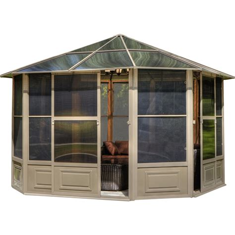 gazebo penguin gazebo penguin four season 12 ft w x 12 ft d aluminum