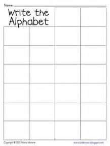 write the alphabet grid by maria gavin teachers pay teachers