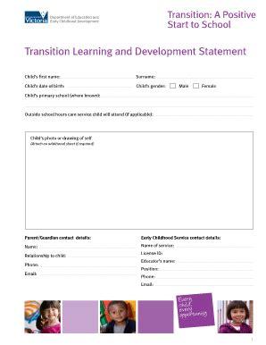 fillable online eduweb vic gov transition a positive