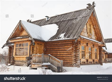 old wooden house in russian village stock photo colourbox old wooden house russian village stock photo 155188316