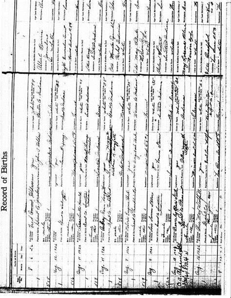 Grant County Indiana Birth Records 00004 Hoggatt Wilbur And 00005 Sprinkle Esta